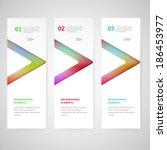 modern infographics numbered... | Shutterstock .eps vector #186453977