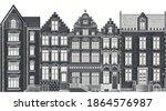 amsterdam houses. urban... | Shutterstock .eps vector #1864576987
