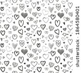 hand drawn background with... | Shutterstock .eps vector #1864580401