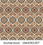 ikat border. geometric folk...   Shutterstock .eps vector #1864581307