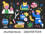 back to school collection of... | Shutterstock .eps vector #1864587034