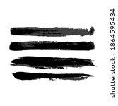 brush strokes isolated. ink... | Shutterstock .eps vector #1864595434