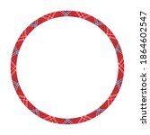 round frame from pattern.... | Shutterstock . vector #1864602547