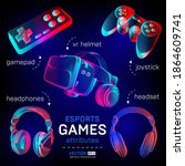 cybersport games icon set  ... | Shutterstock .eps vector #1864609741