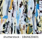 a collage made from irregularly ... | Shutterstock . vector #1864620601