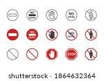 vector no entry icons. black... | Shutterstock .eps vector #1864632364