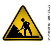 construction site sign  vector | Shutterstock .eps vector #186465131