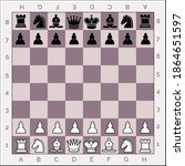 chess pieces classic diagram...   Shutterstock .eps vector #1864651597