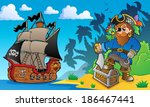 pirate on coast theme 2   eps10 ... | Shutterstock .eps vector #186467441