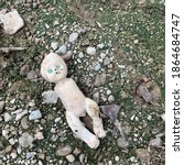 Old Tattered Baby Doll With No...