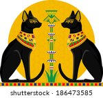 Illustration Of Black Egyptian...