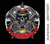 bikers skull logo available for ...   Shutterstock .eps vector #1864754047