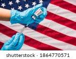 Hands of doctor wear gloves...