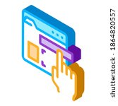 web site elements dragging icon ...   Shutterstock .eps vector #1864820557