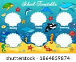 school timetable with... | Shutterstock .eps vector #1864839874
