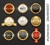 gold badges and labels ... | Shutterstock .eps vector #1864840057