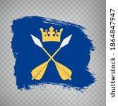 flag dalarna county  brush...