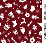christmas seamless pattern of... | Shutterstock .eps vector #1864870261