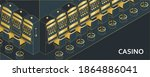casino slot machine in...   Shutterstock .eps vector #1864886041