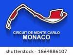 monaco grand prix race track...   Shutterstock .eps vector #1864886107