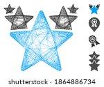 vector wire frame stars hit... | Shutterstock .eps vector #1864886734