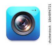 photo or video camera icon ... | Shutterstock .eps vector #1864896721