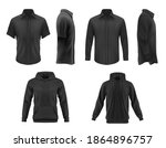 men clothes vector black tshirt ... | Shutterstock .eps vector #1864896757