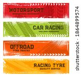 tyre tracks  off road tire... | Shutterstock .eps vector #1864899574