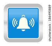 ringing bell icon  | Shutterstock .eps vector #186490889