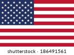 flag  american vector... | Shutterstock .eps vector #186491561