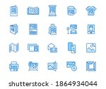 photo printing line icon set.... | Shutterstock .eps vector #1864934044