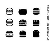 burger icon | Shutterstock .eps vector #186493481