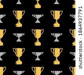 seamless awards pattern. gold... | Shutterstock .eps vector #1864937791