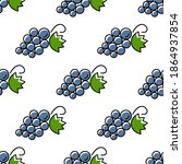 vector seamless fruit pattern.... | Shutterstock .eps vector #1864937854