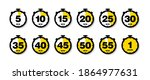 countdown timer vector icons...