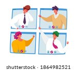business characters  office...   Shutterstock .eps vector #1864982521
