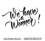 we have a winner  card. hand... | Shutterstock .eps vector #1865038324