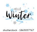 hello winter typography vector... | Shutterstock .eps vector #1865057767