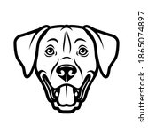 dog face vector illustration...   Shutterstock .eps vector #1865074897