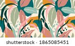 artistic seamless pattern with... | Shutterstock .eps vector #1865085451