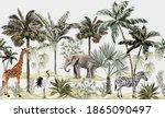 tropical vintage botanical... | Shutterstock .eps vector #1865090497
