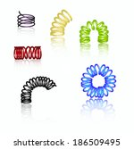 set of colorful 3d springs ... | Shutterstock .eps vector #186509495