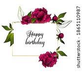 rectangular flower frame made... | Shutterstock .eps vector #1865110987