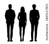 vector silhouettes of  men and... | Shutterstock .eps vector #1865117851