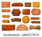 Set Of Wooden Pillars...