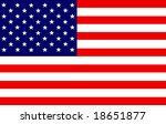 us flag | Shutterstock . vector #18651877