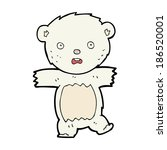 cartoon shocked polar bear cub | Shutterstock .eps vector #186520001