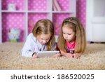 kids together on the floor... | Shutterstock . vector #186520025