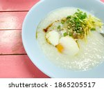 Rice Gruel Or Congee With Pork  ...