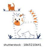 dot to dot game for kids...   Shutterstock .eps vector #1865210641